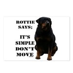 Rottie Says Don't Move Postcards (Package of 8)