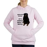 Rottie Says Don't Move Women's Hooded Sweatshirt