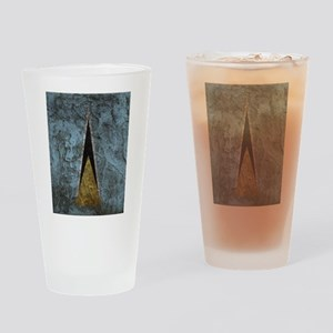 St. lucia flag Rock wall Drinking Glass
