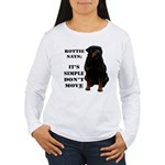 Rottie Says Don't Move Women's Long Sleeve T-Shirt