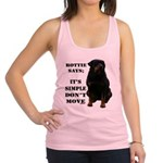 Rottie Says Don't Move Racerback Tank Top