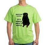 Rottie Says Don't Move Green T-Shirt