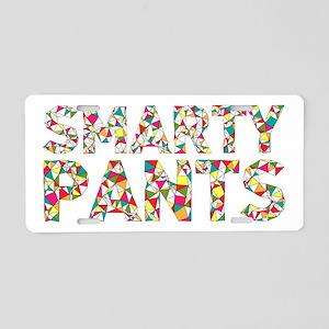 Smarty Pants Geometric Aluminum License Plate