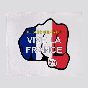 Je Suis Charlie Vive La France Fist Throw Blanket