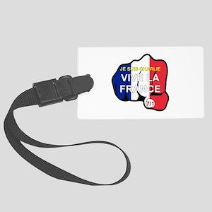 Je Suis Charlie Vive La France Large Luggage Tag