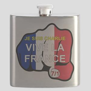 JE SUIS CHARLIE VIVE LA FRANCE FIST Flask