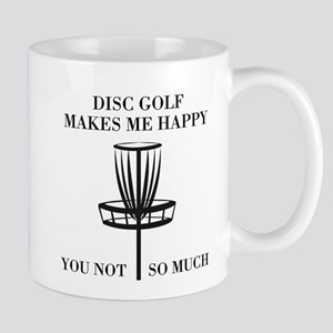 Disc Golf Makes Me Happy Mugs