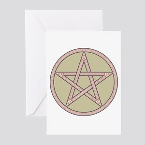 Classic Muted Pentagram Greeting Cards