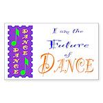 Future of Dance Kids Light Rectangle Sticker