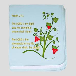 Psalm 27:1 baby blanket