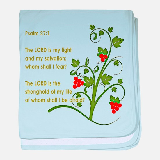 Psalm 27:1 baby blanket