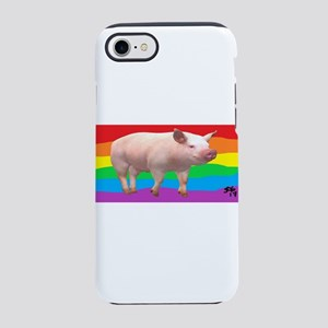 GAY RAINBOW PIG ART iPhone 7 Tough Case