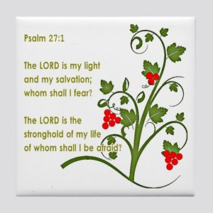 Psalm 27:1 Tile Coaster