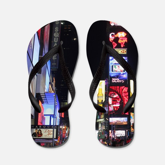 Stunning Times Square New York City Pro Flip Flops
