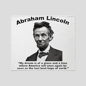 Lincoln: BestHope Throw Blanket