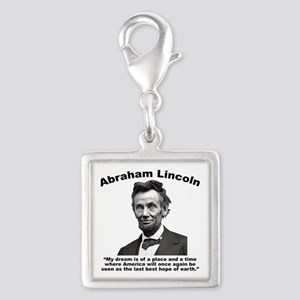 Lincoln: BestHope Silver Square Charm