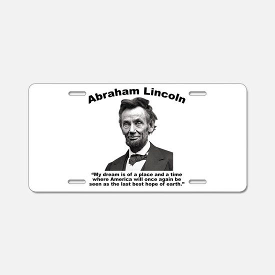 Lincoln: BestHope Aluminum License Plate