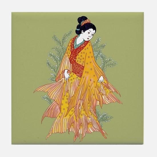 Koi Kimono Tile Coaster