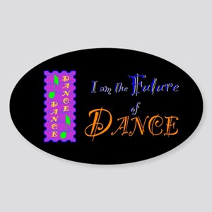 Future of Dance Kids Dark Oval Sticker