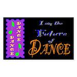 Future of Dance Kids Dark Rectangle Sticker