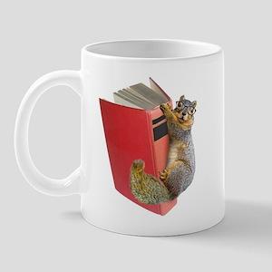 Squirrel on Book Mug