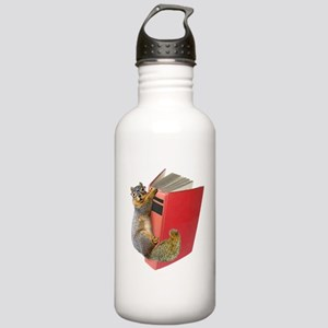 Squirrel on Book Stainless Water Bottle 1.0L