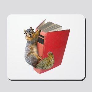 Squirrel on Book Mousepad