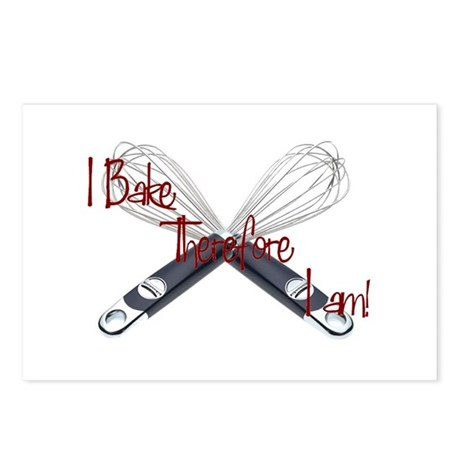 I bake, therefore I am Postcards (Package of 8)