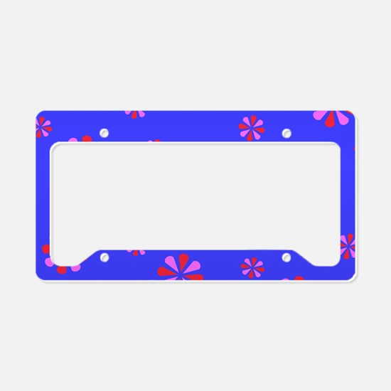 Pink Blue Crest for Carrie License Plate Holder