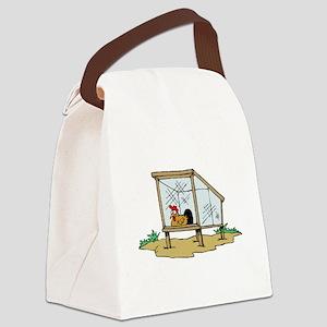 Chicken Coop Canvas Lunch Bag