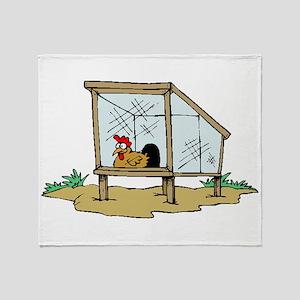 Chicken Coop Throw Blanket