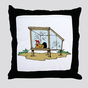 Chicken Coop Throw Pillow