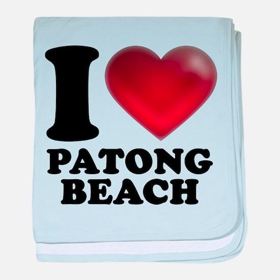 I Heart Patong Beach baby blanket