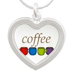Coffee Jewel Tone Mugs Necklaces