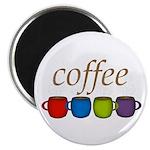 Coffee Jewel Tone Mugs Magnets