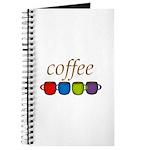 Coffee Jewel Tone Mugs Journal