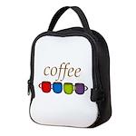 Coffee Jewel Tone Mugs Neoprene Lunch Bag
