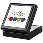 Coffee Jewel Tone Mugs Keepsake Box