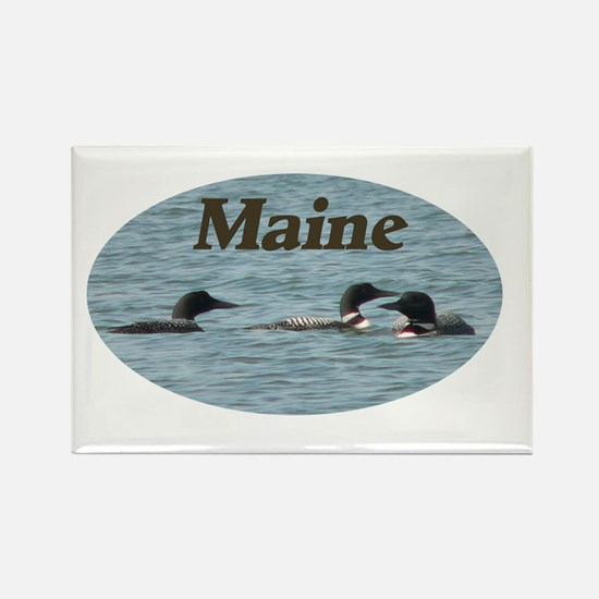 3 loons Rectangle Magnet (10 pack)