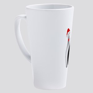 Christmas Bowling Ball And Pin wit 17 oz Latte Mug