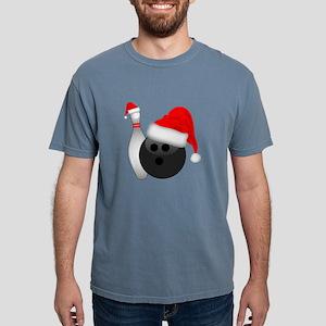 Christmas Bowling Ball And Pin with Santa T-Shirt