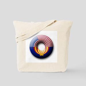 USA - Arizona Flag Donut Tote Bag
