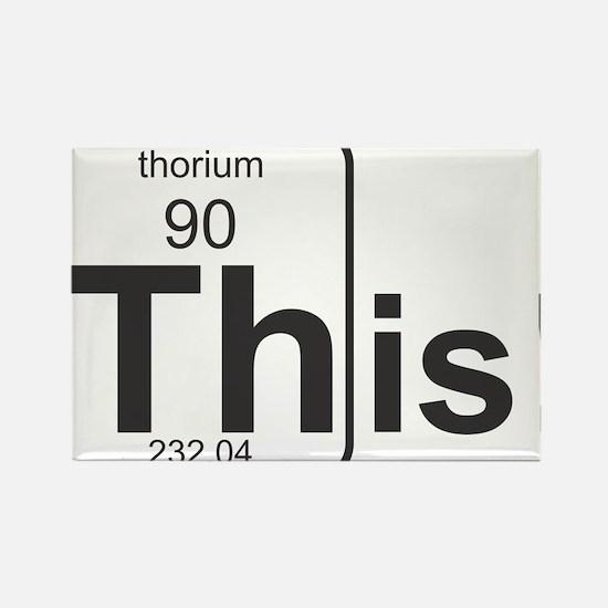 Thorium This! Rectangle Magnet