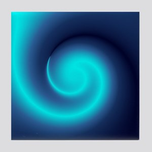 Deep Sea Swirl Tile Coaster