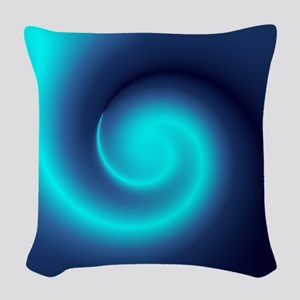 Deep Sea Swirl Woven Throw Pillow