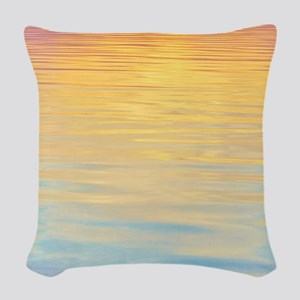 Colorful Lowtide Bay - Pastel Woven Throw Pillow