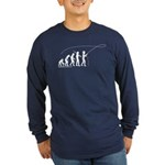 Fly Fishing Evolution Long Sleeve Dark T-Shirt