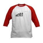 Fly Fishing Evolution Kids Baseball Jersey