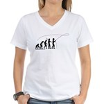 Fly Fishing Evolution Women's V-Neck T-Shirt