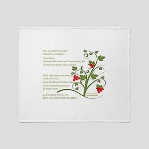 Matthew 11:28-29 Throw Blanket